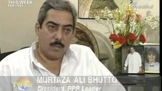 Intarvios Shaheed Mir Murtaza Bhutto NDTVClassicsTheWorldThisWeek Merge