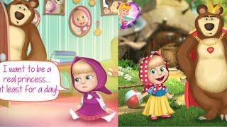 디즈니 공주가 되고싶은 마샤! * 마샤와 곰 게임 애니메이션 * 카일TV * Masha and the bear kids game