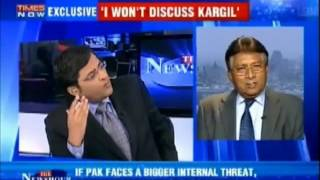 Pervez Musharaf lashed out at Indian media - Full Interview