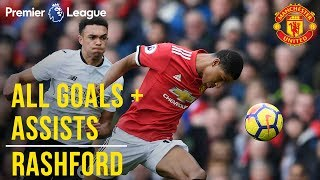 Marcus Rashford | All the Premier League Goals + Assists | Manchester United