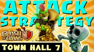 Clash of Clans - BEST FARMING ATTACK STRATEGY - Townhall Level 7 (CoC TH7 Attack Strategies)