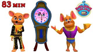 Hickory Dickory Dock Nursery Rhymes Songs for Children | Piggy On The Railway | Wheels on the bus