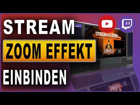 OBS Zoom Effekt einbinden