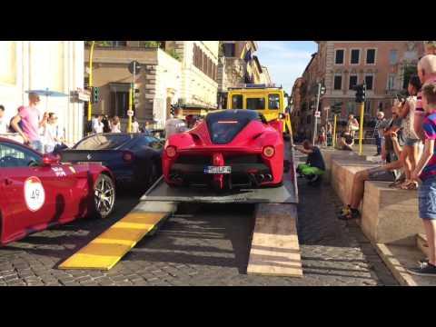 Ferrari LaFerrari Being Unloaded from a Truck