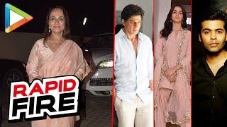 "Soni Razdan: ""If I wake up as SRK, I would stop smoking…"" | RAPID FIRE | Alia Bhatt | K Jo"