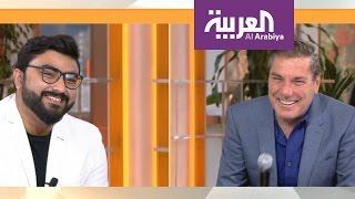 صباح العربية : سعودي يقلد علي جابر .. والاخير يفاجئه في الاستوديو