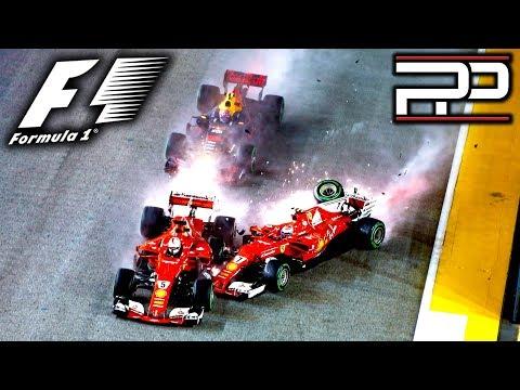 F1 2017 Singapore GP - IT ALL KICKED OFF INTO TURN 1 - Pitlane Podcast #61