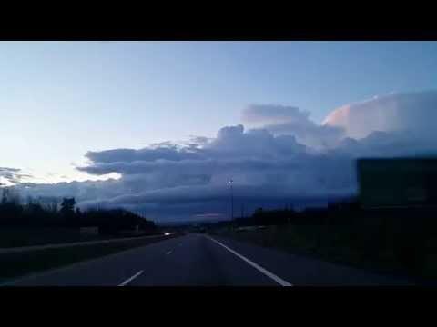 Toronto To Ottawa Highway 401 In Fast Motion