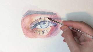 how to draw an eye watercolor part 2