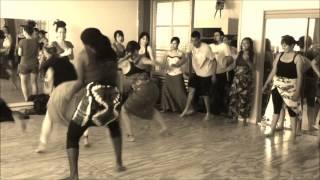 Nigerian Drum and Dance Workshop Clips  Uzo Nwankpa