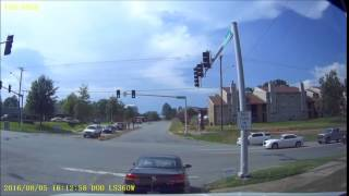 8-5-2016-C  Volvo red light run, VW no turn signal