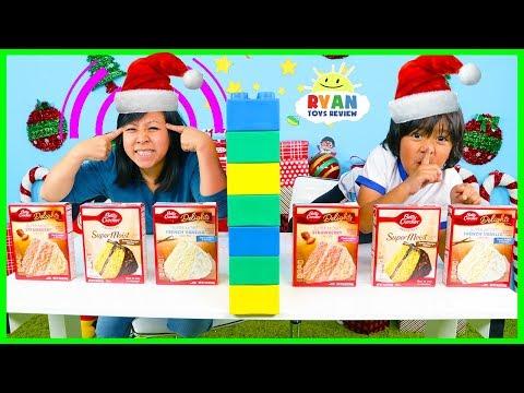 Twin Telepathy Cake Challenge Christmas Edition with Ryan vs Mommy