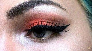 Eyelineri Nasıl Sürüyorum ? | Turuncu Tonlarda Retro Makyaj | -Merkür Can