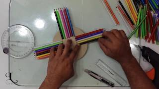 How to make a wall clock using wasted pens |  Easy Handmade DIY | Crafts idea | TubeLife