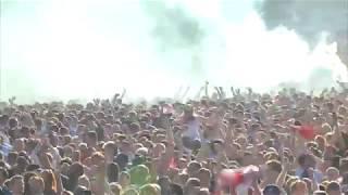 England fans in Hyde Park celebrate Kieran Trippier