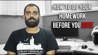 How to do your homework before you vote | In Detail With Muthu | Vlog | Madras Central