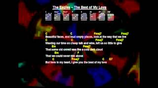 The Eagles - Best Of My Love (Backing Track-Lyrics-Guitar Chords)