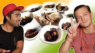 American reacts to Indian Barbeque   Indian street food   Sebastian Sauve   Indian Food Taste Test