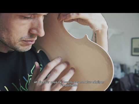 Galen Hartley builds a violin
