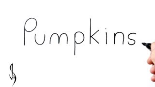How to Turn Words Pumpkins into a Cartoon #33