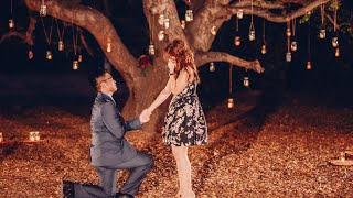 Romantic Candlelight Proposal Video in Orange County