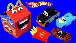 Play Doh Happy Meal Hot Wheels McDonalds Kids Baby Toys Dinoco Lightning McQueen Mater