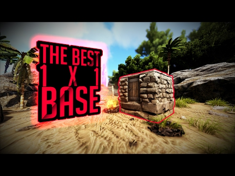The Best 1x1 Starter Base Design In ARK: Survival Evolved | Daikhlo