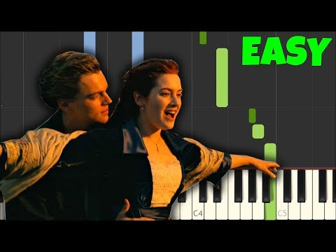 My Heart Will Go On (Titanic) - Celine Dion [Easy Piano Tutorial] (SynthesiaSheet Music)