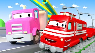 Flavy The Flatbed Truck - Troy The Train in Car City 🚄 l Cartoons for kids
