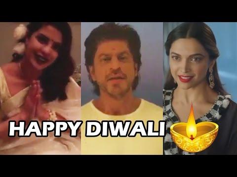 Shahrukh Khan, Deepika Padukone, Priyanka Chopra Wishes HAPPY DIWALI