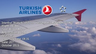 Trip Report : Turkish Airlines | Istanbul IST to Thessaloniki SKG | A320 | TK1881 | Economy HD