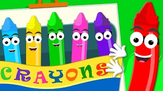 Crayons Nursery Rhymes - Crayons song | Color Song | Baby Videos