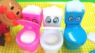 アンパンマン もこもこモコレット トイレ 泡遊び Soda Foam Bubble Juice 人形劇