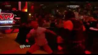 WWE Raw 4/23/12- Randy Orton Kidnaps Paul Bearer and Attacks Kane