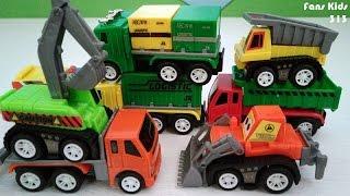 Asyiknya bermain Kendaraan Kontruksi Kecil I Vidio Toys For Kids