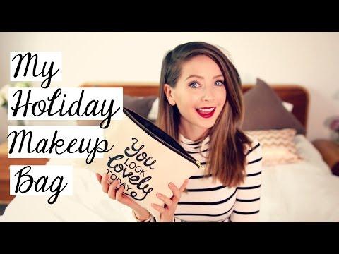 My Holiday Makeup Bag Zoella