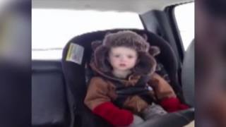 Dad Gives Tired Son Permission to Sleep