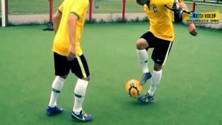 Hướng dẫn kỹ thuật đi bóng cua   Neymar  va Ronaldinho