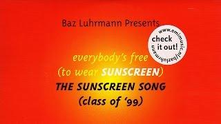 Baz Luhrmann - Everybody's Free To Wear Sunscreen (English Subtitles)