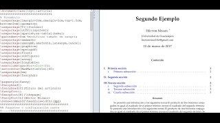 LaTeX texmaker Tutorial 10 - Elementos básicos para escribir un artículo (paper)  - español 1/2