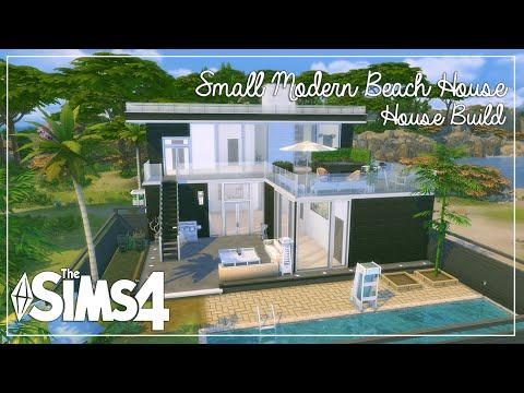 The Sims 4: House Build | Small Modern Beach House