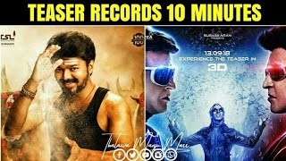 Did 2.0 Teaser Broke Mersal Teaser Record ? - 2.0 Teaser Reaction And Review | Mersal 10 Mins Record