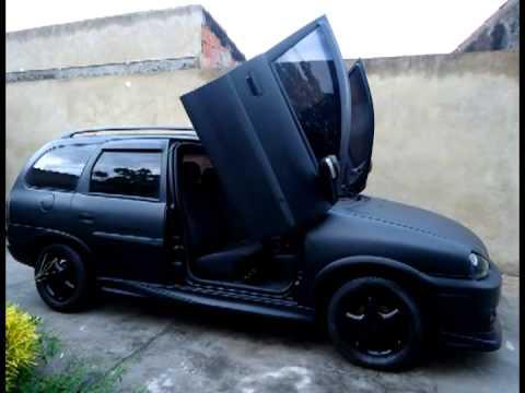 Corsa Wagon com Lambo door Tuning doors Portas verticais