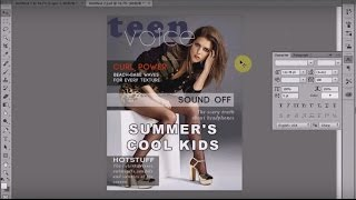 Photoshop CC Tutorial : Design a Magazine Cover in Adobe Photoshop