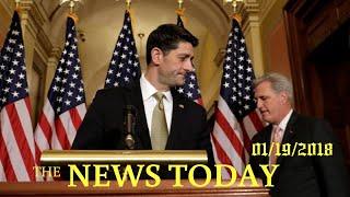 News Today 01/19/2018 | Donald Trump | House Passes Short-term Spending Bill, Senate Fight Erupts