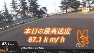 CBR250RR in クイック羽生 データロガー 入り