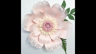 How To make a Medium Size Lace Petal 5 - Paper Flower Template