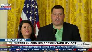 MUST WATCH: Ret. Sgt. Michael Verardo, Injured by IED, Speaks at Signing of VA Accountability Act