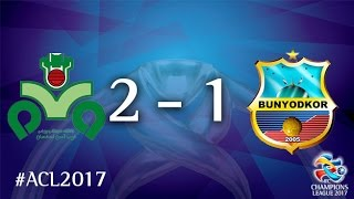 Zobahan vs Bunyodkor (AFC Champions League 2017 : Group Stage - MD4)
