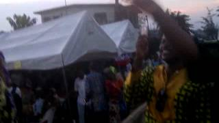 Efik traditional marriage in Cross River State,Nigeria. Presentation of the couple to the public